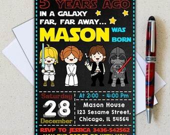Star Wars Invitation/ Star Wars Birthday Invitation/ Star Wars Party Invitation/ Star Wars Printable/ Star Wars Invite/ Star Wars Birthday