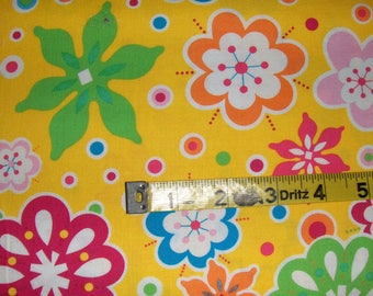 """100% Cotton Fabric BTY - Dan River """"Bloom In Crazy"""""""