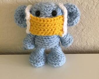 Medical Mask Monkey, Monkey with Mask, Crochet Monkey, Immunosuppressed Monkey, Removable Mask Monkey, Hospital Monkey, Monkey Doctor