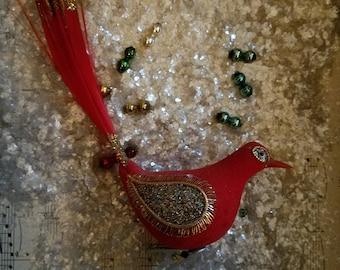 Vintage Christmas Ornament / Vintage Christmas Bird / Vintage Ornament / Vintage Christmas / Vintage Xmas / Vintage Christmas Decor /