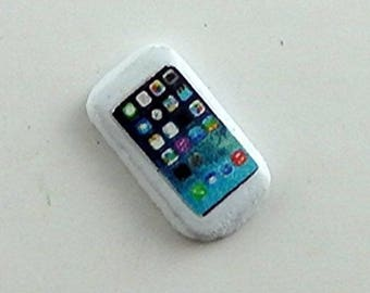 Dollhouse Miniature Cell Phone White 1:12 Scale