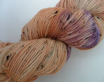 """100gms Handpainted 4ply Merino/Donegal Nep Yarn """"The Pond"""""""