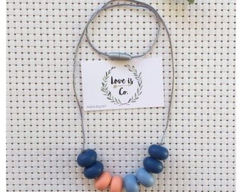 Winter Sunset ~ silicone teething necklace