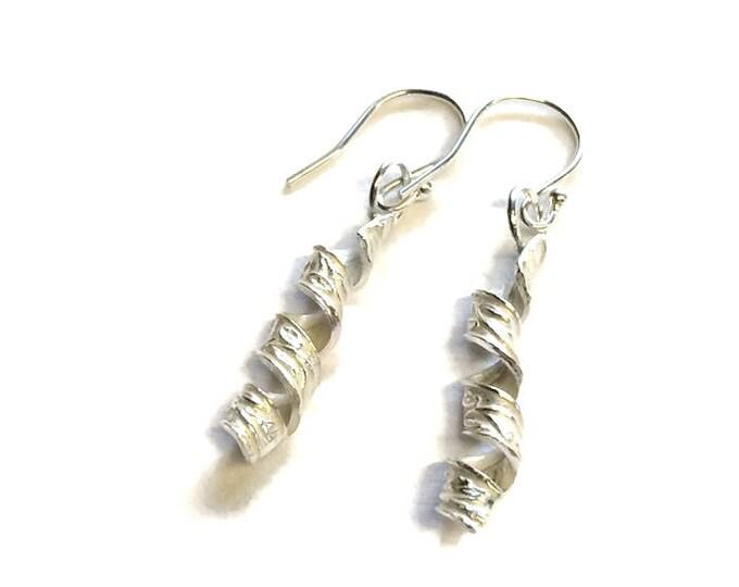 Patterned Ribbon Drop Earrings