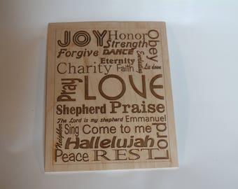 Joy, Strength, Love Plaque