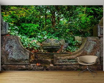 Forest Stone Sculpture WALL MURAL, Self Adhesive Peel And Stick Photo Mural  Sticker, Large Part 57
