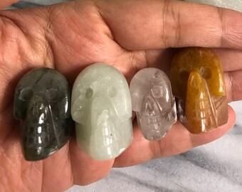 Gemstone Skull Handmade Gift for Her Boho Gifts Gemstone Carvings dainty Gift under 15 Crystal Skulls for Sale Skull Jewelry Crystal Skull