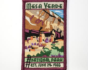 Official Mesa Verde National Park Souvenir Iron-on Patch Colorado Scrapbooking FREE SHIPPING