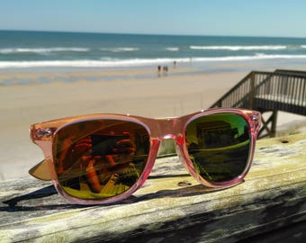 Bamboo Side Translucent Pink Sunglasses