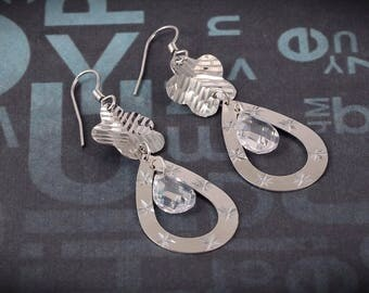 Awesome 30 % OFF Sale 92.5 Sterling Silver Earrings Flower Design With Beautifull Look 5.22 Gms. Length 5.40 CM Code MGJ 45