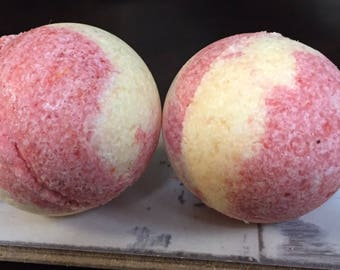 Strawberry Banana Bath Bomb.