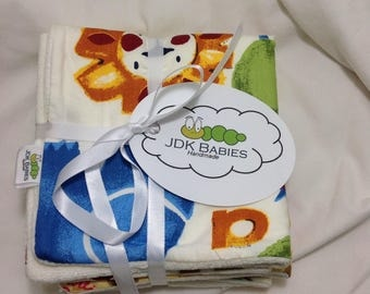 2 Pack Handmade Novelty Baby Washcloths