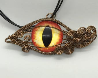 Antique Brass Dragon Eye