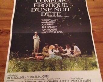 """Erotic comedy a Midsummer night"" movie poster - Woody Allen - 1982"