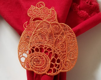 Pumpkin - Free Standing Lace - Machine Embroidery Design