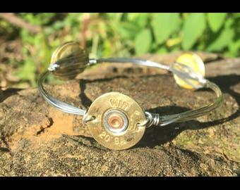 Shotgun shell bangle stack bracelet