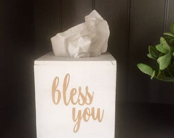 Handmade Personalized (Bless  You/ Name, KY) Tissue Box