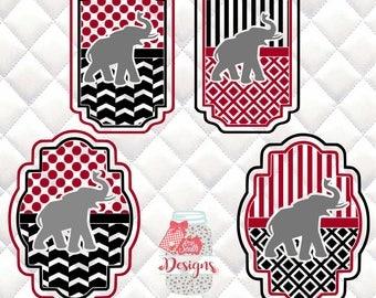 Elephant Mascot SVG, Silhouette studio bundle - 4 design download
