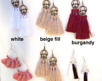 Tassel Earrings FREE SHIPPING for purchases within the US