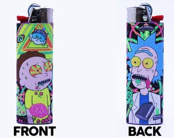 Rick and Morty Bic Lighter - Custom Made - High Quality