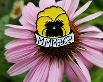 Mmmbop Hanson pansy enamel pin