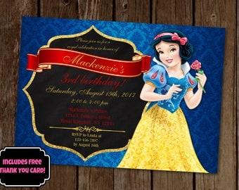 Snow White Invitation, Snow White Birthday Invitation, Princess Birthday Invitation, Princess Party, Printable Invite