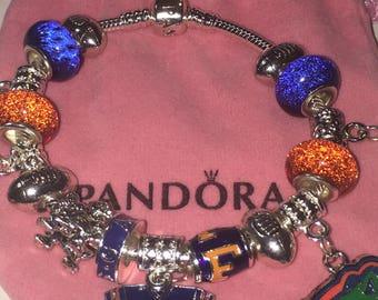 Florida University Gators 100% Authentic PANDORA Bracelet