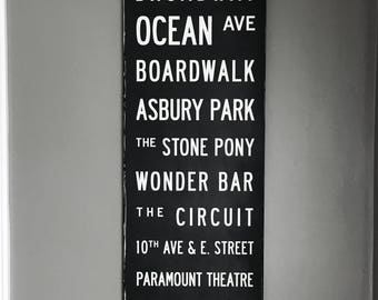 Custom Vintage NYC Style Subway Sign Personalized Destination Travel Wood Art