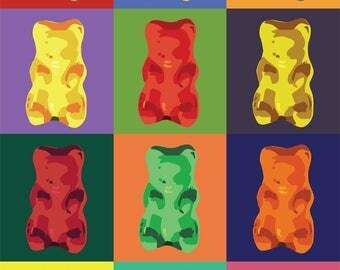 Gummy Bear Pop Art