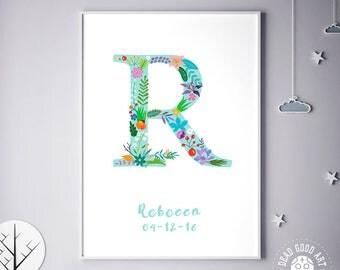 Playroom Wall Art, Nursery Wall Art, Kids Wall Art, Kids Room Decor, Reagan, Rowan, Reese, Custom Gift, Holiday Gift, Birthday