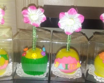 Laua Themed Candy Apples