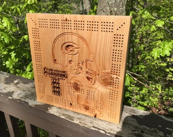 Greenbay Packers Cribbage Board