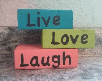 Decorative Blocks Live Love Laugh