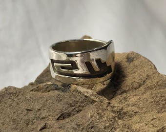 Navajo Sterling Silver Overlay Ring - Tommy Singer