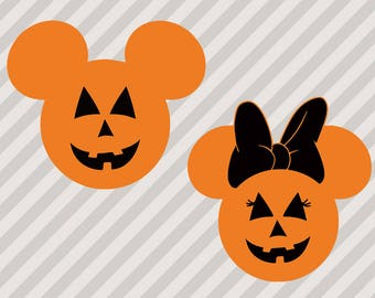 Halloween Mouse heads Svg, Halloween mickey & minnie heads, ears Cutfile, Dxf, Eps vectors for cricut cutting, Halloween mickey svg cut file