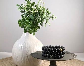 Black Lava Stone Beaded Bracelet, Diffuser Bead, Diffuser Bracelet, Essential oils, Essential Oil Beads, Essential Oil Bracelet
