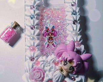 Chibiusa cell phone Sleeve Smartphonecase Liquid Flüssiglitzer