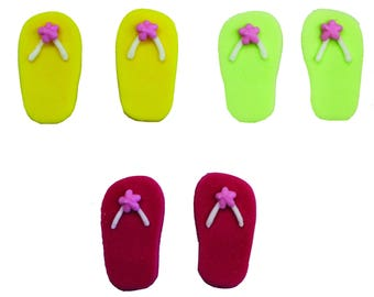 Edible Summer Flip Flop Sugar Cake Topper Cupcake Decoration