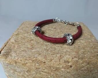 Cork with Rhinestones bracelet