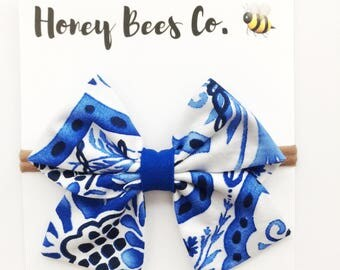 SALE!!! Sailor Fabric Bow ! more prints Option!