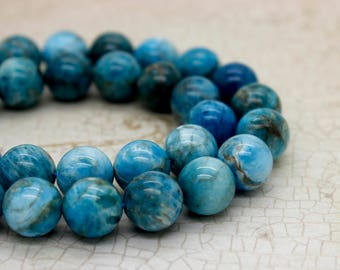 Apatite Round Gemstone Beads (6mm 8mm 10mm 12mm)