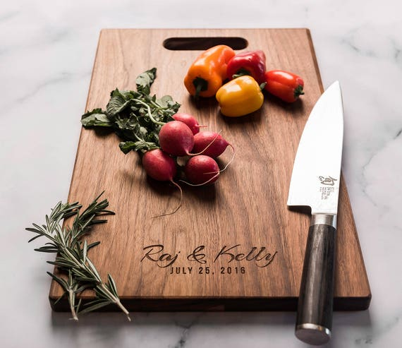 Personalized Charcuterie Board, Engraved Wood Cutting Board, Gift for Couple Friends, Engagement, Wedding, Anniversary, Housewarming Gift