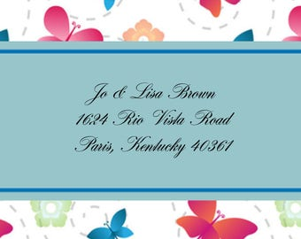 Butterflies and Flowers Address Labels