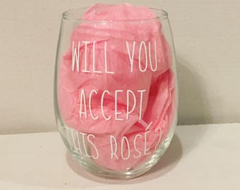 Will you accept this rosé? Wine glass