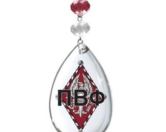 PBP Logo Crystal - Crest- Pi Beta Phi Sorority MAGNETIC ORNAMENT/Pbp Decor/Pbp Ornament/Pi Beta Phi Dorm Room Decor
