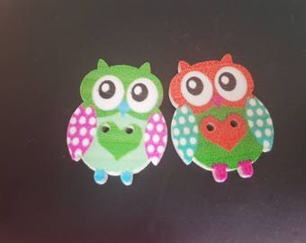 wooden painted owl embellishment