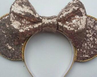 Rose gold disney ears