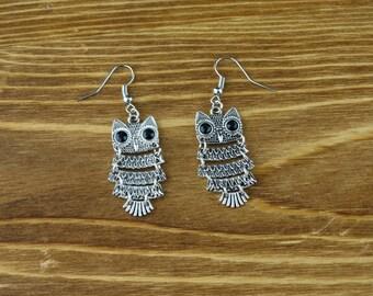 Skinny Owl Earrings