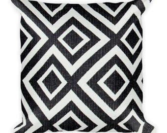 Maze Square Pillow. Throw Pillow, Couch Pillow, Decorative Pillow, Modern Home Decor, Custom Pillow, Custom Home Decor, Euro Sham