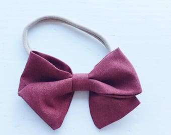 Petite Zoe Bow on headband - Rust